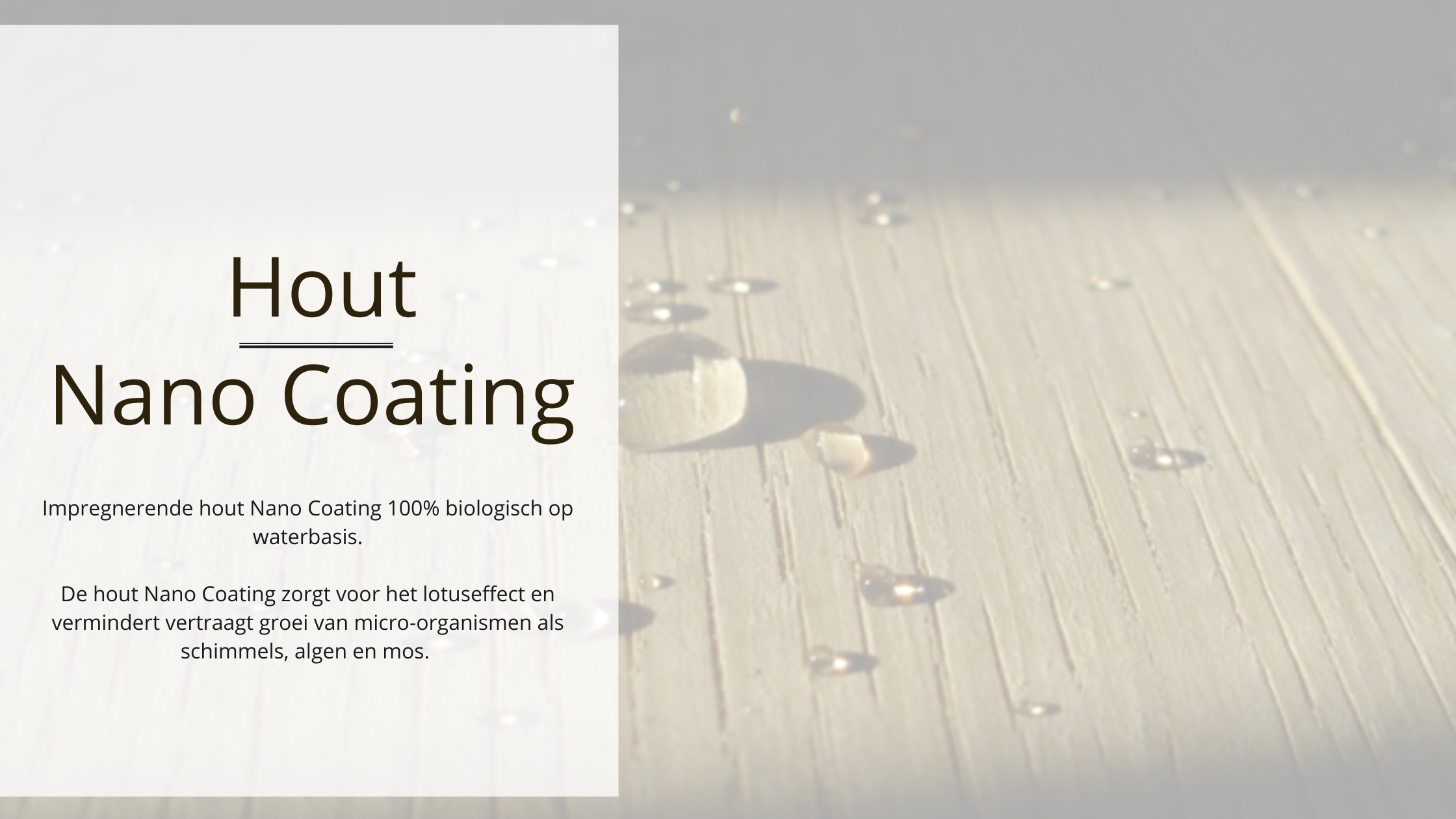 Hout Nano Coating